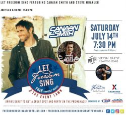Let Freedom Sing Concert featuring Canaan Smith and Steve Moakler!